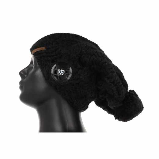 Earebel Handmade Strickmütze Beanie Kopfhörer Stereo Headset schwarz - neu