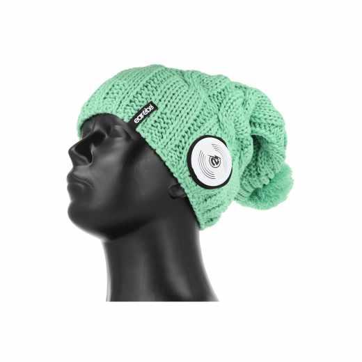 Earebel Beanie Strickmütze Lifestyle mit Bluetooth Kopfhörer Stereo-Headset grün - neu