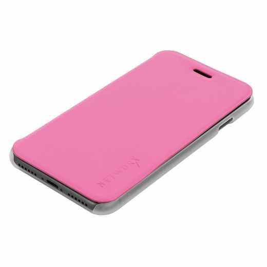 Networx Flip Cover Case Sleeve Spacesuit Schutzhülle für iPhone 7 TPU rosa - neu