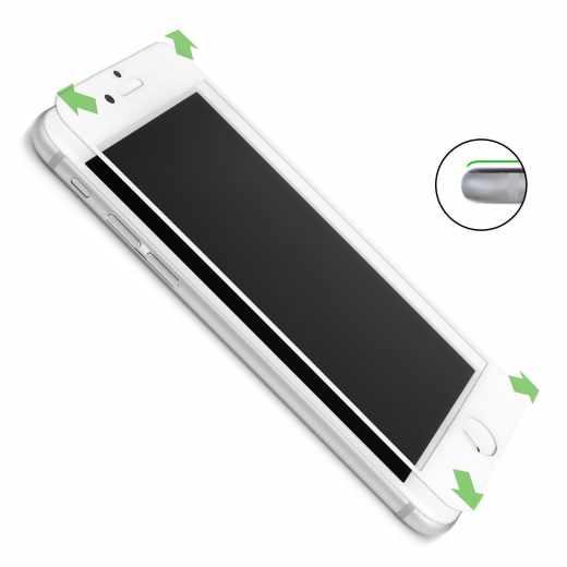CASEual Full Glass für iPhone 7 Plus Displayschutzfolie 9H Echtglas weiß - neu