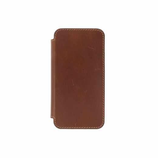 Nomad Leder Folio Clear Case für Apple iPhone X Schutzhülle Cover braun - neu