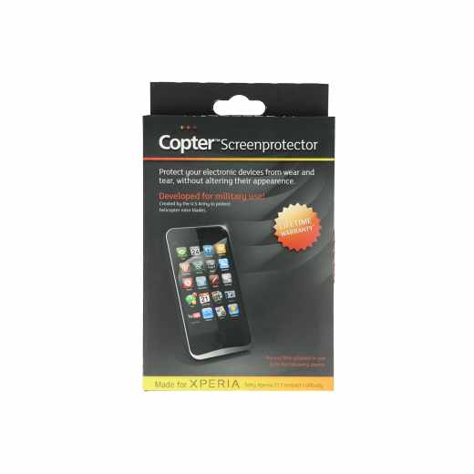 Copter Panzer Glas Fullbodyfilm Display-Schutz-Glas Sony Xperia Z1 Compact MPX