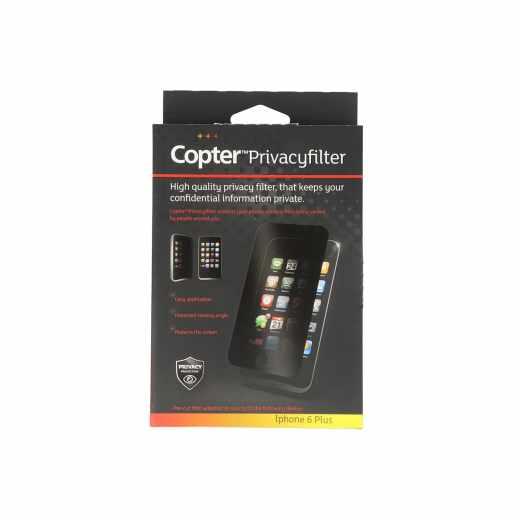 Copter Privacyfilter Handy-Display-Schutzfolie Apple iPhone 6 Plus u. 6s Plus - neu