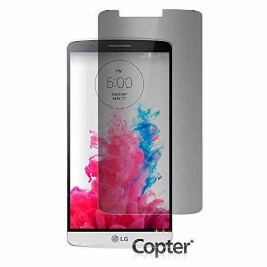 Copter Panzer Glas Privacyfilter Handy-Schutz-Glas für LG G3, transparent