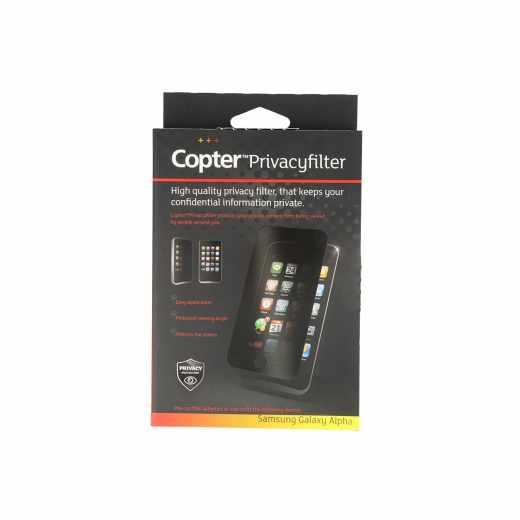 Copter Privacyfilter Handy-Display-Schutzfolie Samsung Galaxy Alpha PanzerGlas - neu