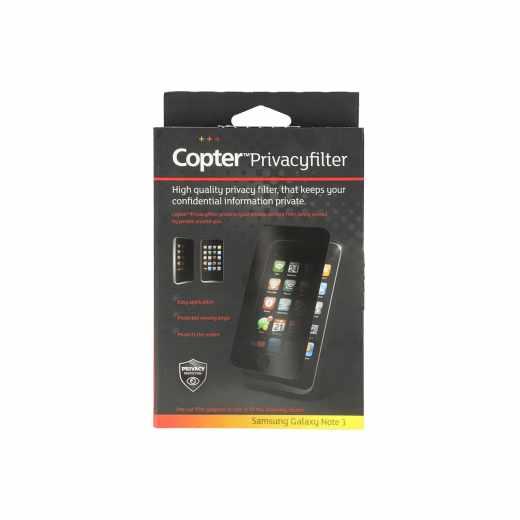 Copter Panzer Glas Privacyfilter DisplaySchutzfolie Samsung Galaxy Note 3