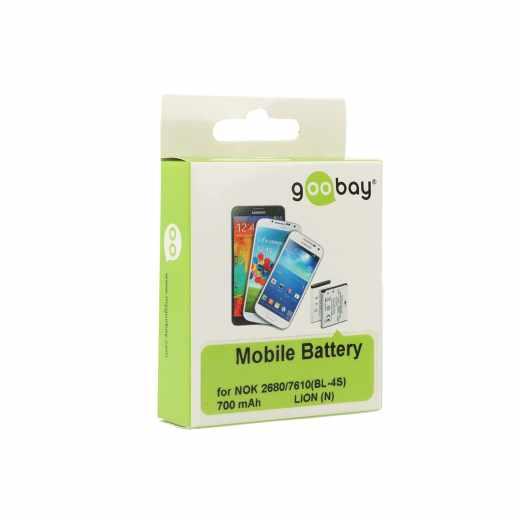 Goobay Akku Nokia 2680/7610 Ersatzakku Batterie weiß