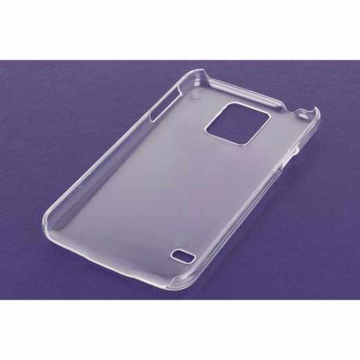 Xqisit iPlate Glossy Case Backcover Schutzhülle Samsung Galaxy S5 transparent