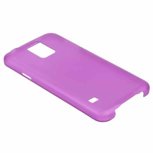 Xqisit iPlate Ultra Thin Smartphonetasche für Samsung Galaxy S5 Handyhülle Case lila