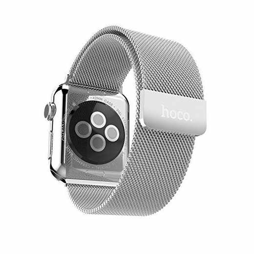 Hoco Edelstahl Watch 42 mm Milanese Edition Armband Smartwatch Edelstahl silber -neu