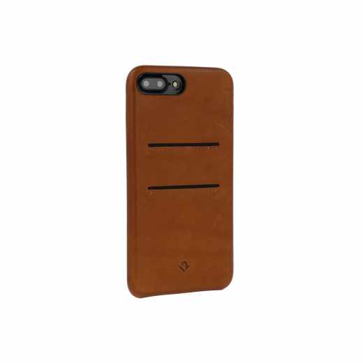 Twelve South Relaxed LeatherClip iPhone 7 Plus Lederhülle Kartenfächer braun - neu