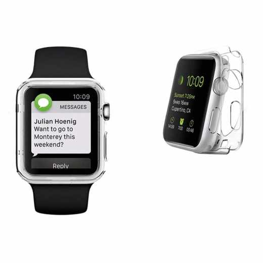 Networx TPU Case Schutzhülle für Apple Watch Series 2 38 mm transparent - neu