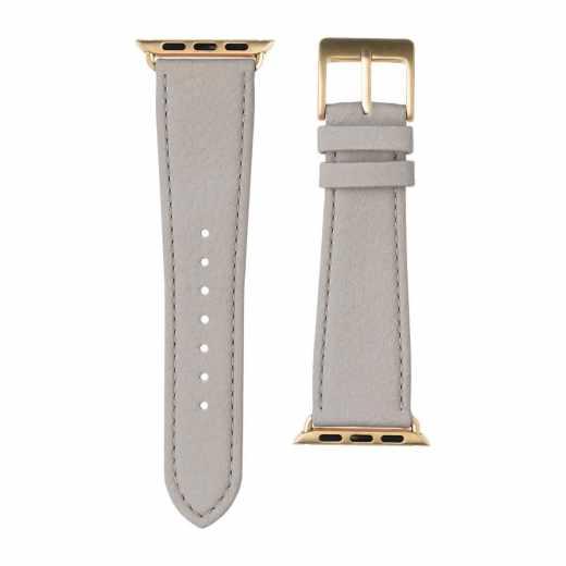 Roobaya Apple Watch Nappa Leder Armband 38 mm Uhrenarmband hellgrau
