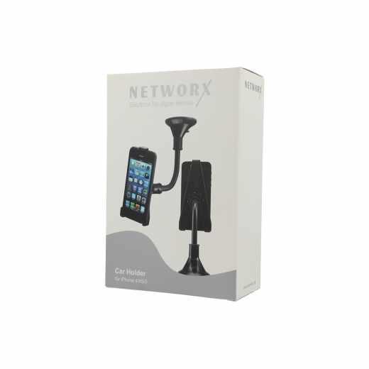 Networx Kfz-Halter iPhone 4/4s/5 Car Holder Autohalterung schwarz - wie neu