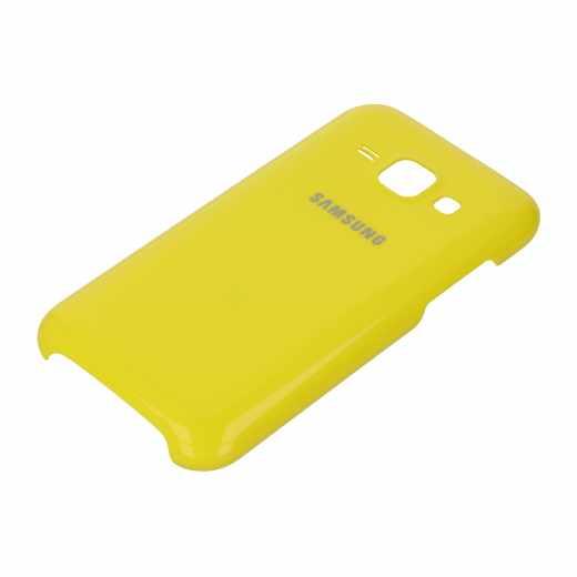 Samsung Hartcover Schutzhülle Handyhülle Schale Tasche Etui für Galaxy J1 gelb