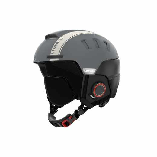 Livall RS1 Helm, Skihelm Snowboardhelm 57-61cm Headset Bluetooth WalkieTalkie grau