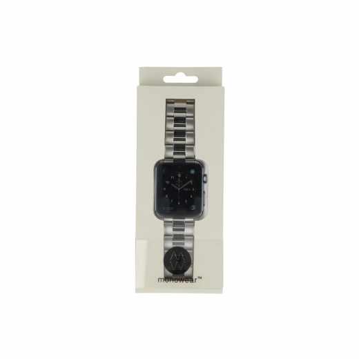 Monowear Metall Gliederarmband Ersatzarmband Watch 38mm silber - wie neu