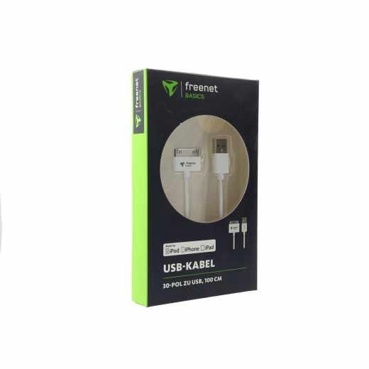 Freenet Basics Charge-Sync Daten-Ladekabel 30 pin 1 m weiß - wie neu
