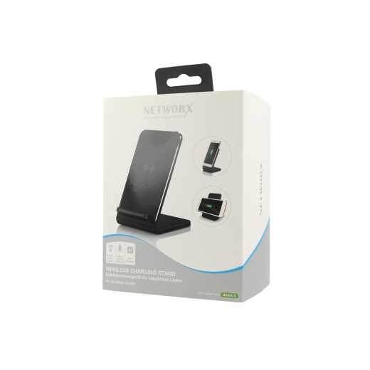 Networx Wireless Charging Stand Induktionsladegerät iPhone 8 und X schwarz - neu