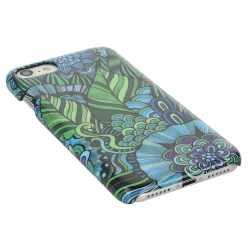 Networx Jungle Case Apple iPhone 7 Blume Schutzhülle Handy Cover Backcover blau