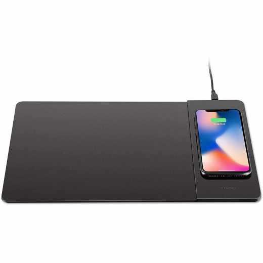 Networx Wireless Charging Mousepad Mausunterlage Ladestation Smartphone schwarz