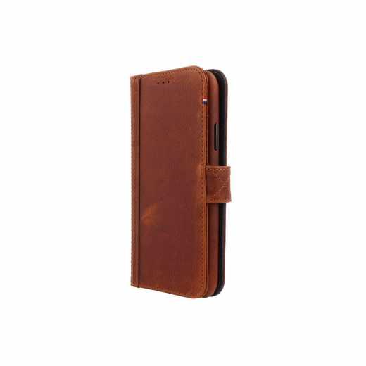 Decoded 2-in-1 Wallet Case Leder-Handy-Schutzhülle für Apple iPhone XS/X, braun- neu