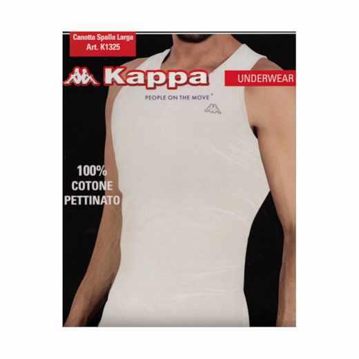 Kappa Herren Men Tank Top Größe XXL Unterhemd für Männer Shirt 100% BW weiß