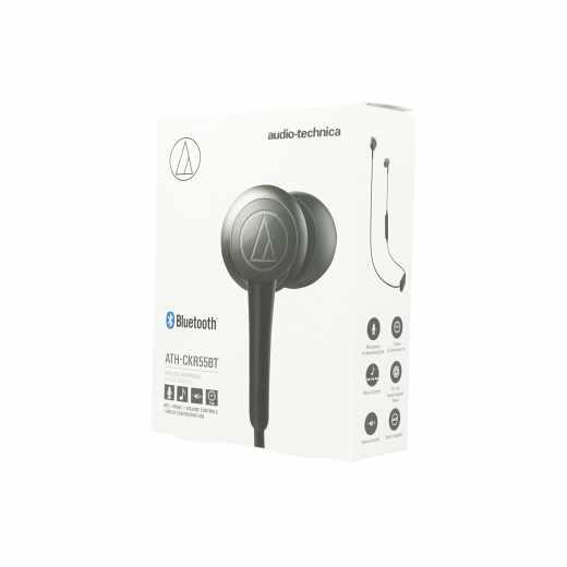 AudioTechnica Kopfhörer Bluetooth Headset In-Ear Neckband Mikrofon schwarz - wie neu