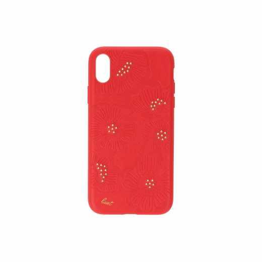 LAUT Flora M Schutzhülle iPhone XR Handyhülle Backcover Smartphonetasche cherry