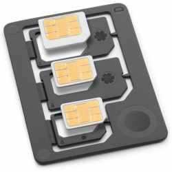 Networx Kompakt SIM Adapter Set Mikro Nano-SIM schwarz