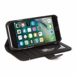 Decoded Wallet Case Schutzhülle Apple iPhone 8 Leder Smartphonetasche schwarz