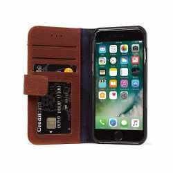 Decoded Wallet Case Schutzhülle Apple iPhone 8 Lederhülle braun