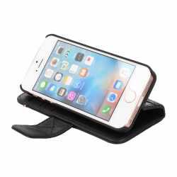 Decoded Wallet Case Apple iPhone 5s/5/SE Leder Schutzhülle Geldbörse schwarz - neu