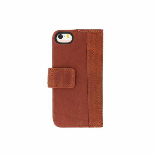 Decoded Wallet Case Schutzhülle Apple iPhone 5s/5/SE Lederhülle braun - neu