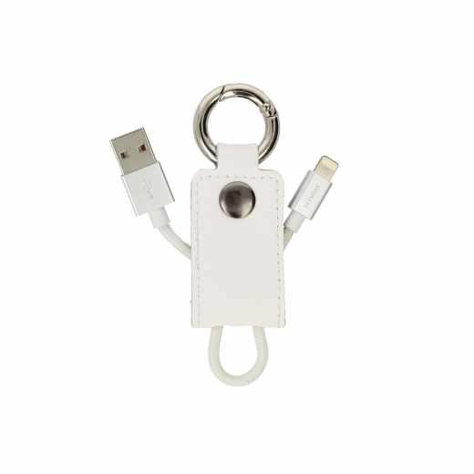Networx Keith Lightning Kabel auf USB Anhänger Kurzkabel Zubehör weiß - neu