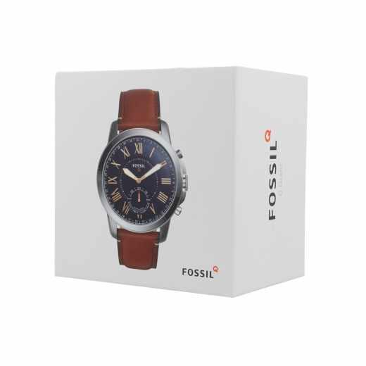 FOSSIL Grant Hybrid Smartwatch Herren Uhr mit Lederarmband Analog IOS Bluetooth braun - neu