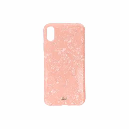 LAUT Pearl M Schutzhülle Apple iPhone XR Perlglanz 3D Effekt Backcover Case Pink Rose - neu