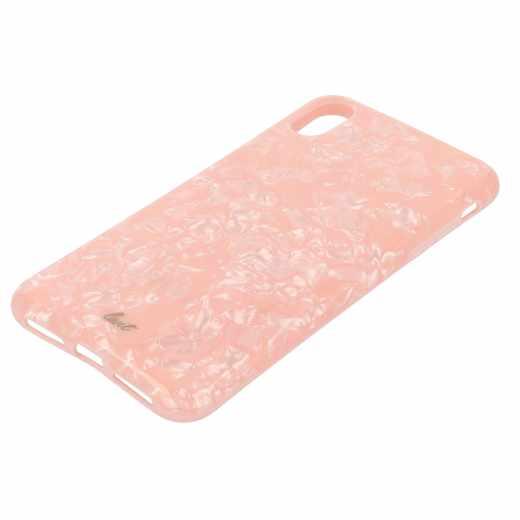 LAUT Pearl Schutzhülle Apple iPhone XS Max Case 3D Perlglanz Qi Wireless Pink Rose