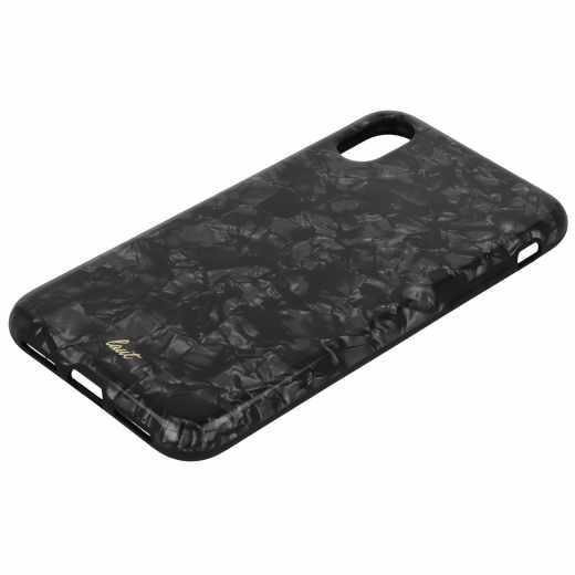 LAUT Pop Black Pearl Apple iPhone X Schutzhülle Perlenoptik Backcover schwarz - neu