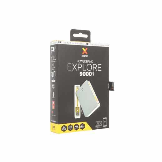 Xtorm Power Bank Explore 9.000 Akku Micro-USB Kabel Smartphone Quick Charge grau - neu