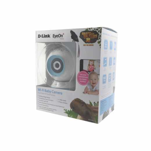 D-Link SmartHome-Kamera DCS-825L EyeON Baby Kamera Überwachungskamera weiß - sehr gut