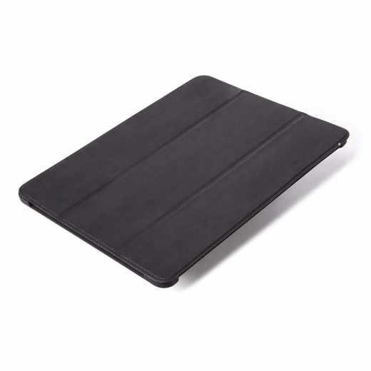 Decoded Slim Cover Leder Schutzhülle für iPad Pro 12,9 Zoll (2018) schwarz