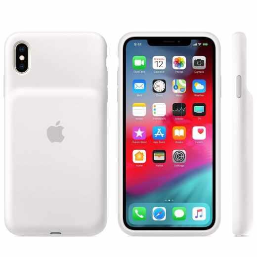 Apple Smart Battery Case Schutzhülle kabellosem Laden für iPhone XS Max weiß - wie neu
