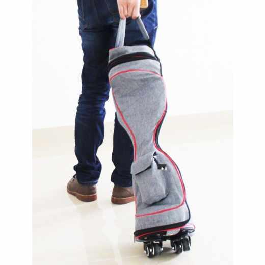 Cat 2Droid Rollkoffer für Elektrisches Zweirad Hoverboard Schutztasche grau - sehr gut