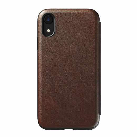 Nomad Tri-Fold Folio Leather Rugged M Hülle Geldbörse iPhone XR Schutzhülle braun - sehr gut