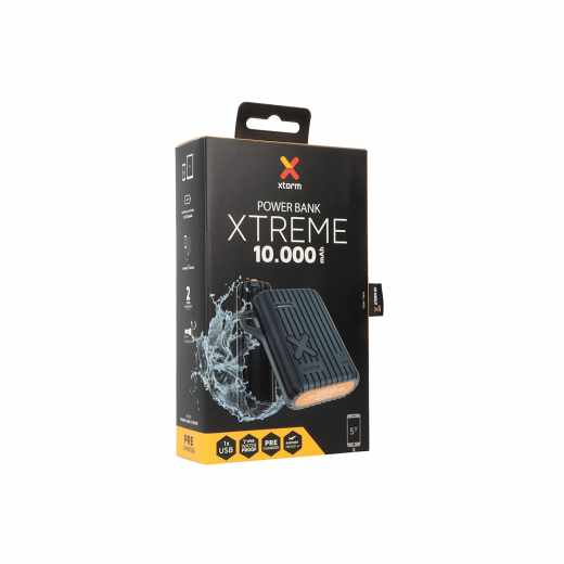 Xtorm Outdoor Powerpack Xtreme 10.000 mAh Power Bank wasserdicht schwarz - sehr gut