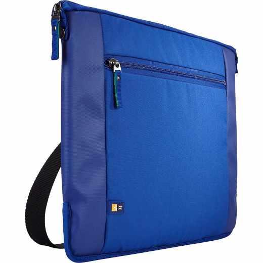Case Logic Intrata Laptop Schutzhülle Schultertasche für Notebook 15,6 Zoll blau- neu