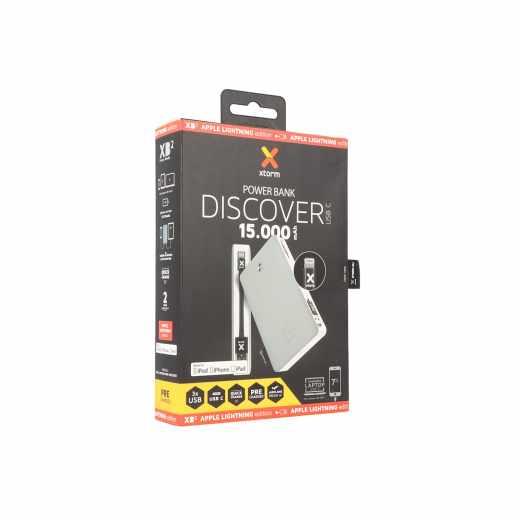Xtorm USB-C Power Bank Discover 15.000 Lightning grau - sehr gut