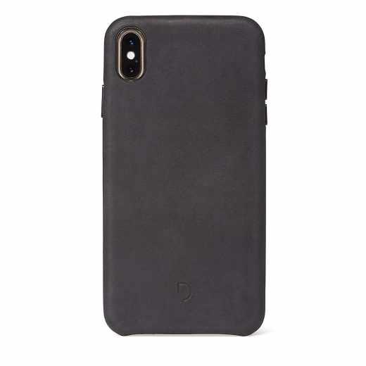 Decoded Back Cover Leder-Schutzhülle Tasche für iPhone XS Max schwarz- sehr gut
