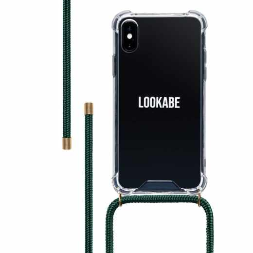 LOOKABE Necklace Case für iPhone XS/X Handykette mit Handyhülle grün - neu
